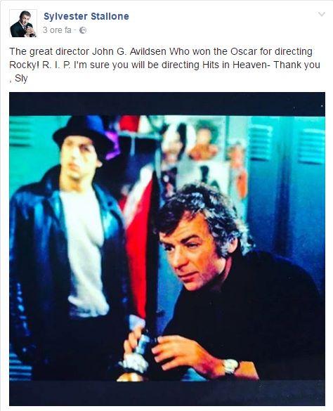 Cinema, morto il regista di Rocky