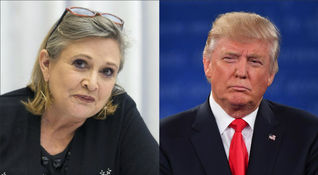Carrie Fisher e Donald Trump